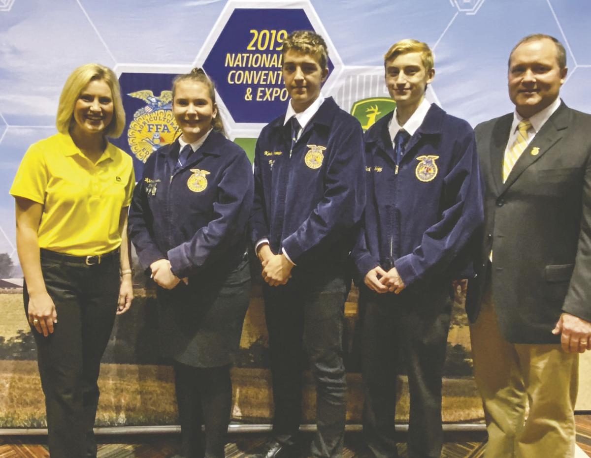 Richland 44 FFA member earns fifth in the nation