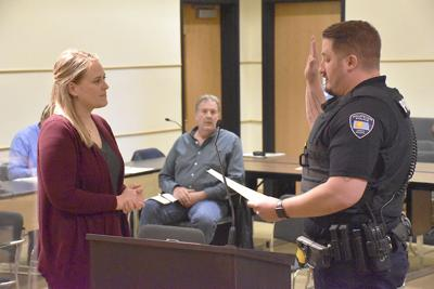 Huard sworn in as newest Wahpeton police officer