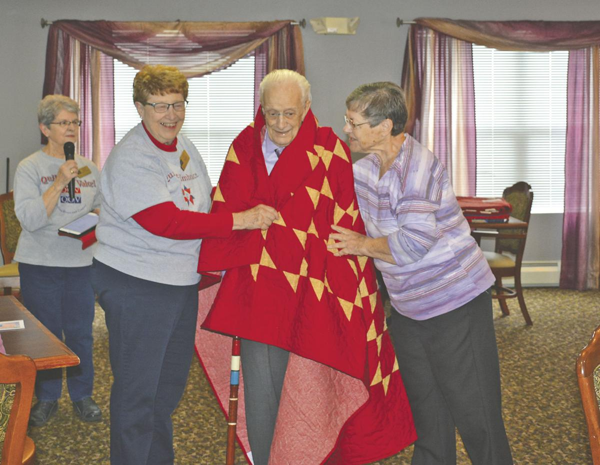 Quilts of Valor come to Twin Town Villa