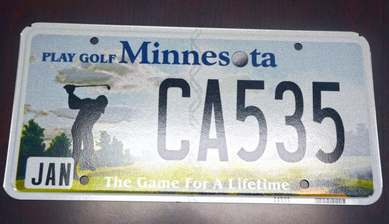 New Mn License Plate Has Golf Theme The Daily News News