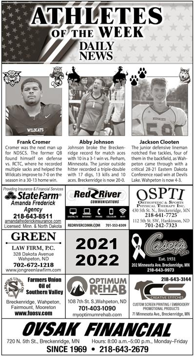 Athletes of the Week: Cromer, Johnson and Clooten