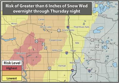 Winter Storm Watch issued from Thursday morning through Saturday afternoon