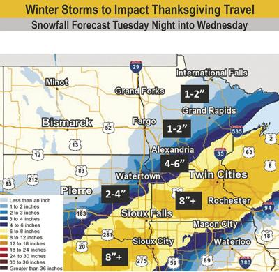 Winter storms to impact Thanksgiving travel