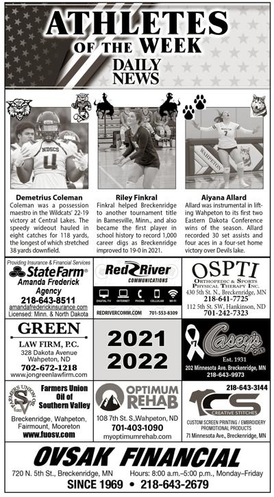 Athletes of the Week: Coleman, Finkral and Allard