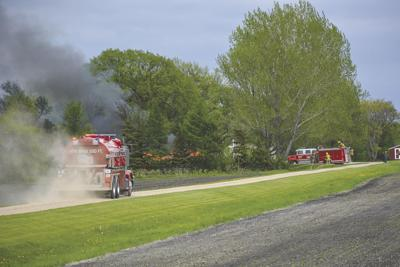Firefighters respond to Thursday afternoon shop fire
