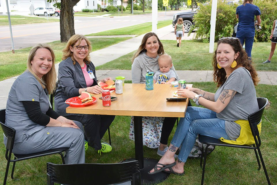 Sanford employees honored with cookout, social
