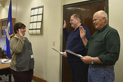 Wilkin County Commissioners take oath of office