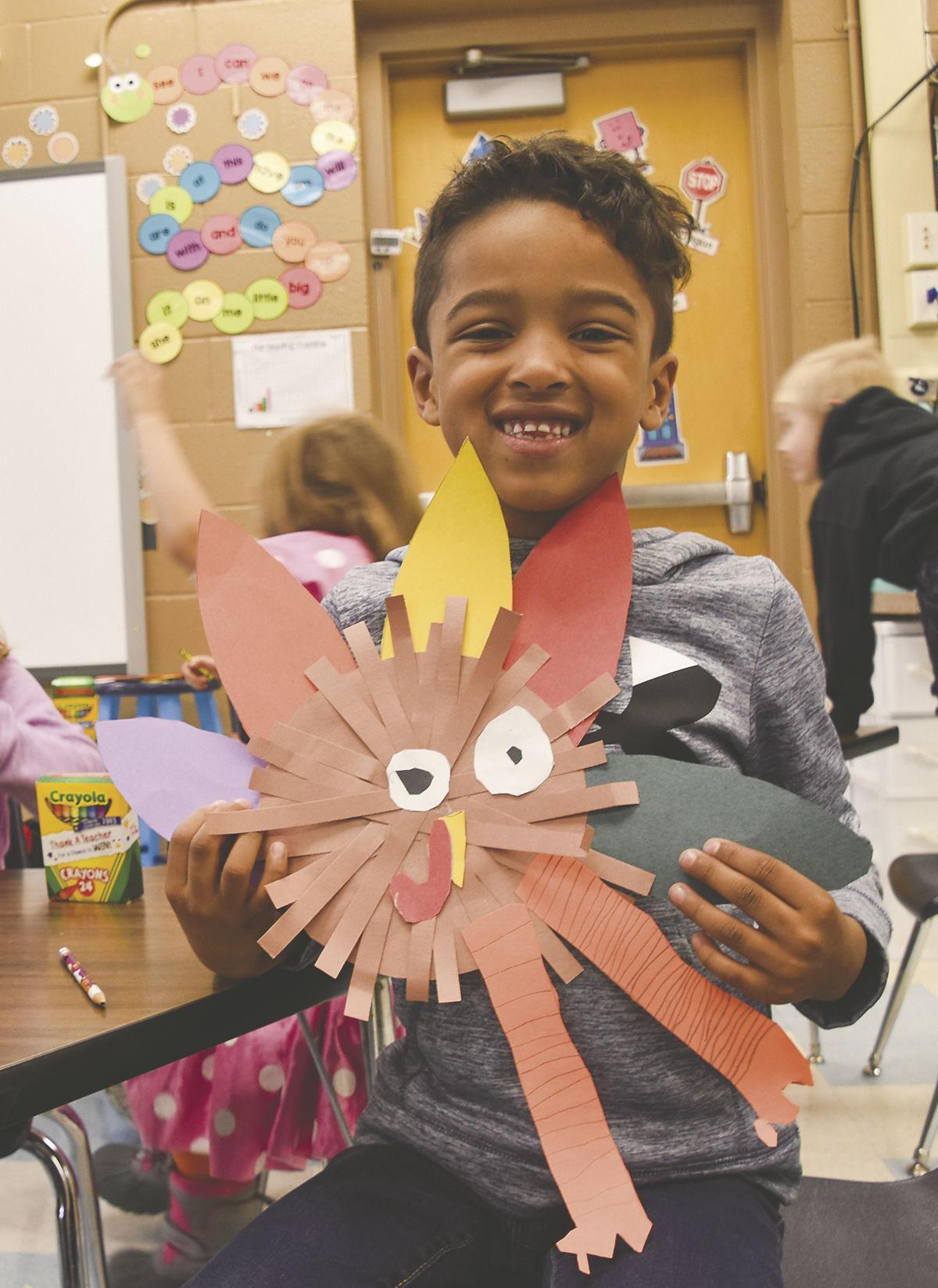 Thanksgiving gratitude from kindergarten classes