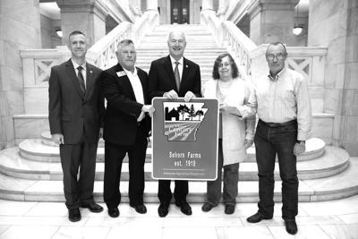 Sehorn Family honored as an Arkansas Century Farm at State Capital