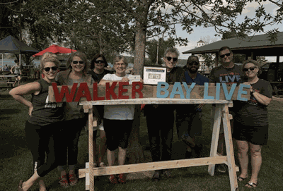 Walker Bay Live Committee members are (from left) Kate DeLorenzo, Kristin Holly, Joann Diamond, Kathy Bieloh, Paul Nye, Charles Adams, and Mark and Jan Vondenkamp. Photo submitted