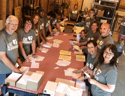 The Uhrich Family spent a weekend this summer helping Faith in Action launch the File of Life Project supporting volunteers and the people who call for neighborly help. Many hands made for a fun project and everyone was able to help out.