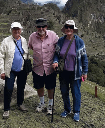 Alice Groth (from left), Otto Ringle and Suzanne Pfau were recently in Peru to climb Machu Picchu.