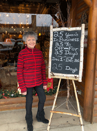In celebration of her 25 years in business, Northern Exposure owner Jan Henrickson is having a 25-day sale.