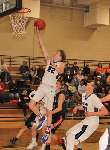 Gavin Deskeere scores two points with on this second-half lay up.