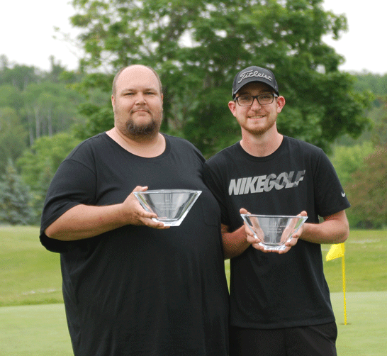 The Net division winners were (left to right) Jesse and Nick Nordmann.