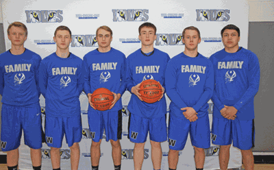 The six WHA seniors leading the Wolves to a 16-12 mark were (from left) Tom Hansen, Trent Schultz, Ethan Anderson, Cole Rasmussen, Connor Craven and TJ Smith.