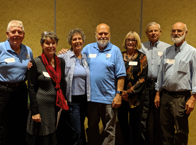 Faith in Action Board of Directors are (from left) Craig Wadzink of Hackensack, Ellen Leger of Outing, Caryl Allen of Pine River, Mike Bohanon of Backus, Dee Oliver of Walker, Dennis Abbott of Hackensack and Don Hoppe of Hackensack.