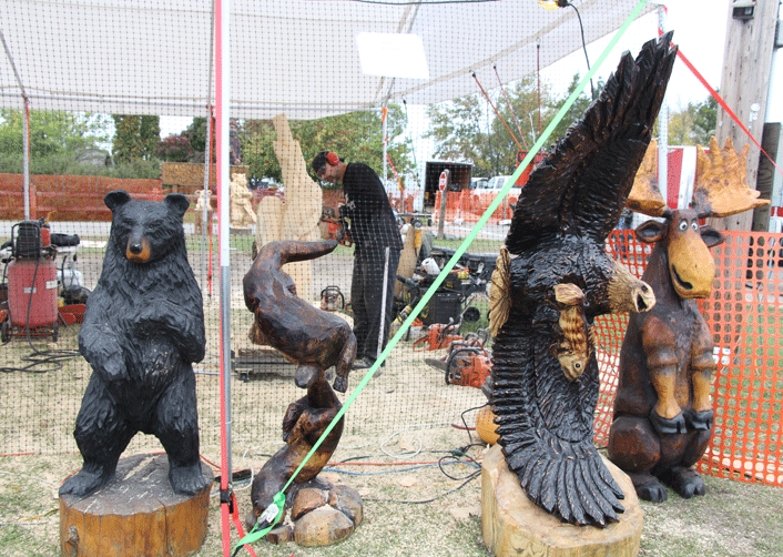 Proceeds from the two chainsaw carvings auctions — one Sept. 28 and the other Sept. 29 — are split between carvers  and four event sponsors.