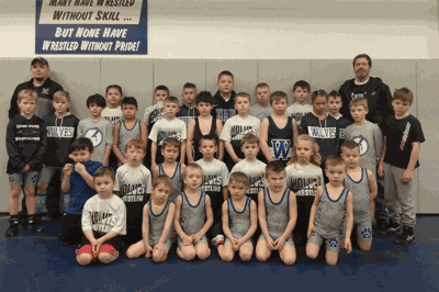 Pictured are 31 of the 34 Walker-Hackensack-Akeley-Nevis wrestlers who were on the mat Feb. 1 at the annual Walker Youth Wrestling Tournament.
