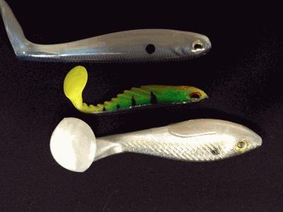 Paddle Tail soft baits work