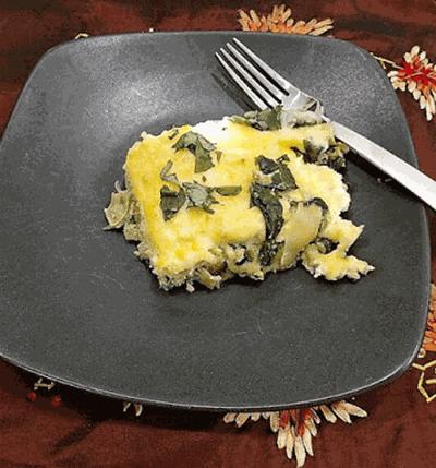 Spinach and artichoke egg casserole