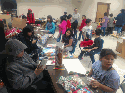 Bug-O-Nay-Ge-Shig seventh- and eighth-grade students ran a Christmas Gift Store for K-6 students before winter break.