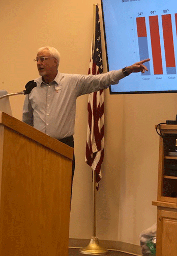 Walker Rotary recently invited a representative from Twin Metals Minnesota, Dave Ullrich, to clarify and bring us up to date on underground mining of copper, nickel and platinum in northern Minnesota.