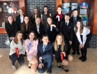 The Walker Talkers team members who competed at the Grand Rapids Early Bird, with seven of them bringing home ribbons.