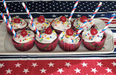 Cherry Bomb Cupcakes