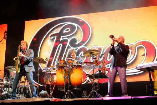 Chicago closed the Jam Friday night with a set that included all their greatest hits.