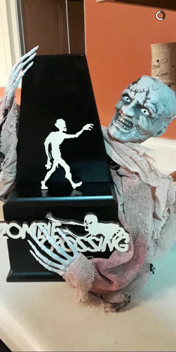Check out the amazing trophy that goes to the winning classroom that raises the most money.