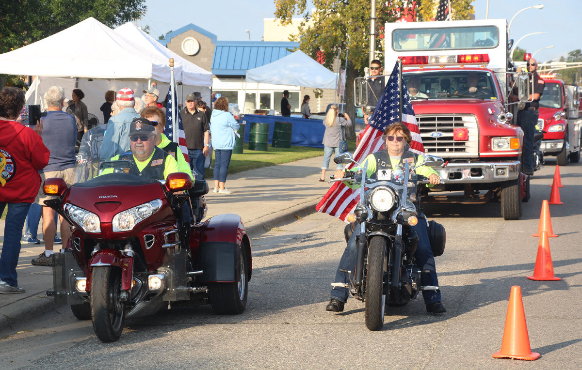 The ceremony lasted about 15 minutes and included the Walker Legion Riders escorting the Walker Area Joint Fire Department to the ceremony.