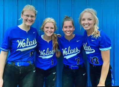 WHA's four seniors were (from left) Alicia Becker, Lizzie Naugle, Elise Rice and Emma Deegan. All four were named all-confernece.