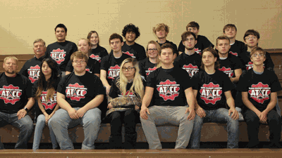 Laporte students recently explored careers at Alexandria Technical College