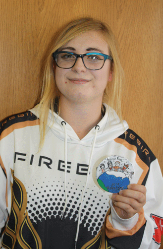 Danielle Recine, a junior at WHA High School, designed the 2019 Ethnic Fest Button