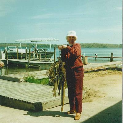 """""""We always caught our limit,"""" Vera said of walleye."""