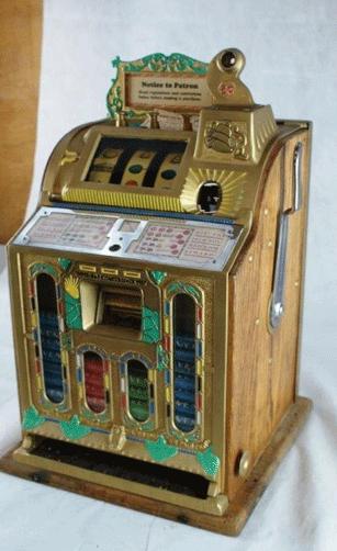 A penny slot machine.