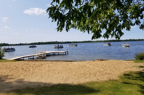 At one time 18 boats were anchored out in Birch Lake, listening to the concert.