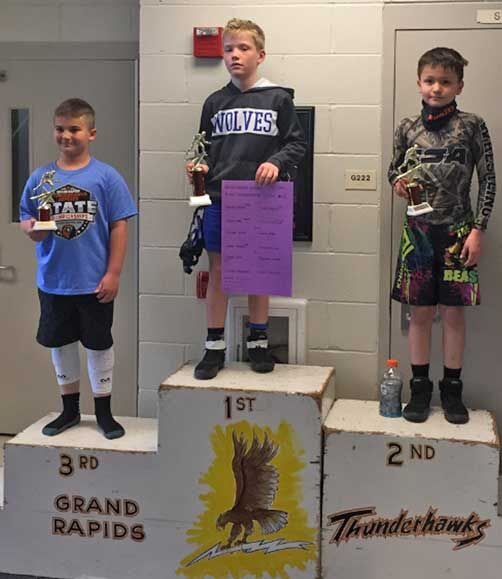 Grant Orton went 3-0 and took first place at the Jaycees State Tournament.