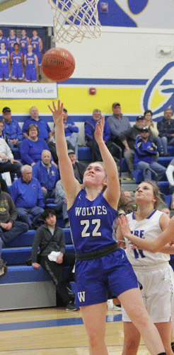 Bri Raddatz gets inside to score on this first-half play in the subsection title game.