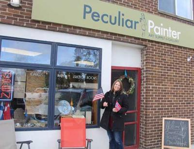 Jessie Townsdin Stolzman opened Peculiar Painter nearly eight years ago. The store offers artwork, art supplies, Modern Scandinavian products and more.