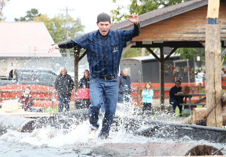 The All-American Lumberjack Show will be held twice on Friday, three times Saturday and once Sunday Morning