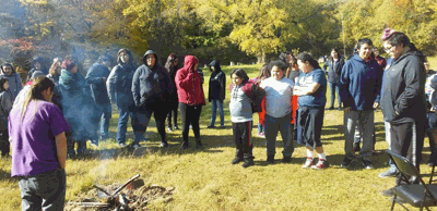 A group of Bug-O-Nay-Ge-Shig students completed their study of the Battle of Sugar Point with a field trip to the battle site Oct. 7.