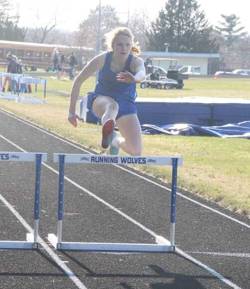 Abi Strandlie took first place in the 300 hurdles, and was second in the 200, triple jump and long jump.