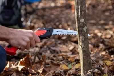 A seven-inch RazorTooth folding saw is perfect for removing small or medium sized dead or diseased branches from shrubs and small trees in the fall.