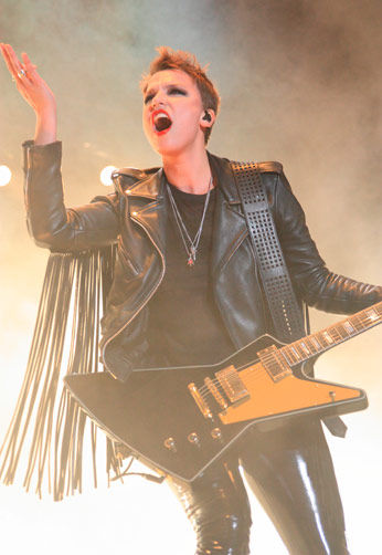 Halestorm, led by lead singer Lzzy Hale, rocked the house Thursday night with a great performance.