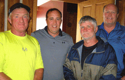 Taking first place in the Friends of Youth Golf Benefit was Cass Company Insurance Team No. 1. (from left) Tony, Mark and Jeff Peterson, and Dan Meier.