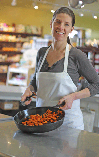 Erin Haefele is an accomplished chef, caterer and owner of the Green Scene, a food hub that prepares good healthy food.
