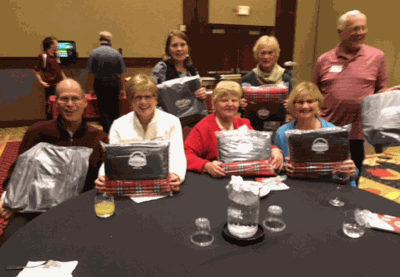 Pictured are attendees who won prizes donated by Northern Lights.