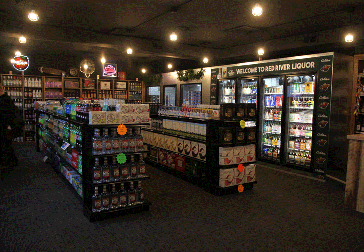 The Red River Liquor Company has a variety of domestic and craft beers and liquor products and mixes for sale seven days a week.